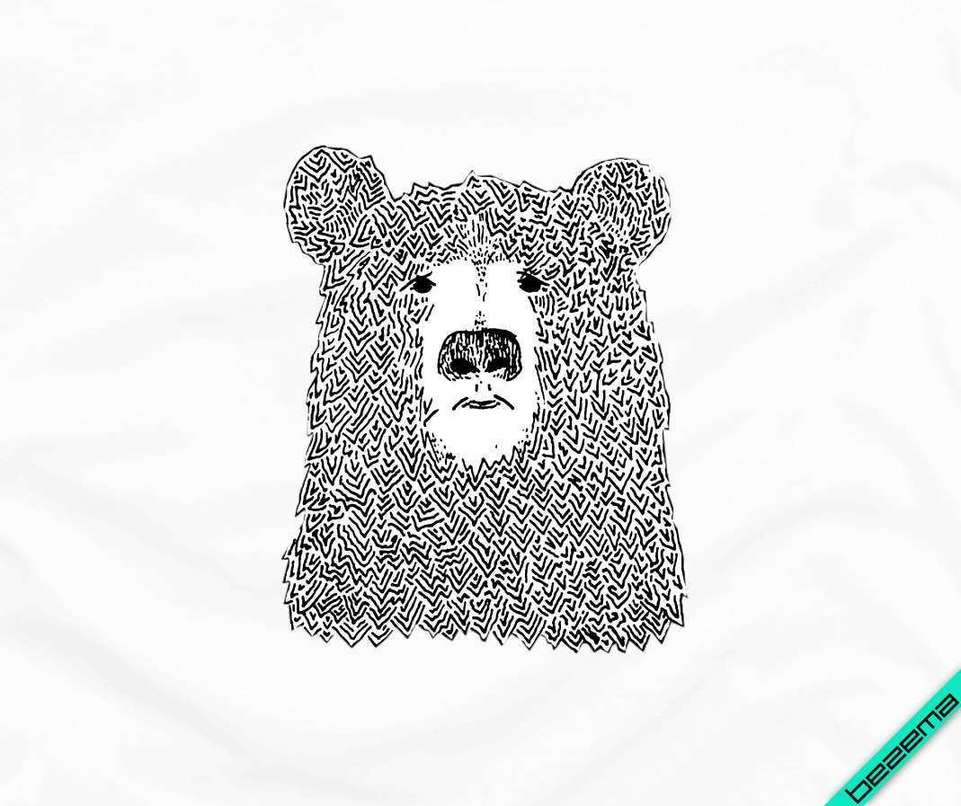 Термоперевод на сумки Ведмідь [Свій розмір і матеріали в асортименті]