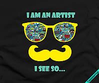 Термоперевод на велюр I am an artist [Свой размер и материалы в ассортименте]