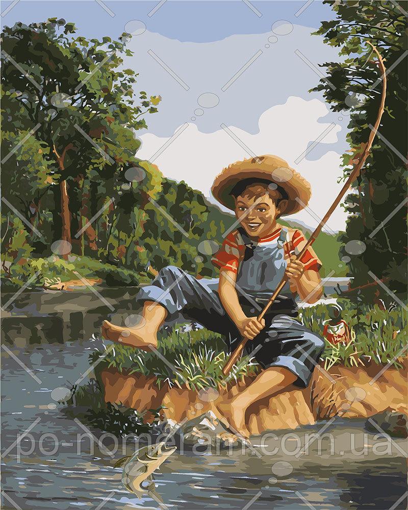 Картина по номерам Маленький рыбак 40 х 50 см (KH2331)