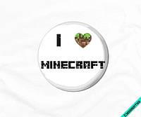 Термопечать на белье для беременных Minecraft [Свой размер и материалы в ассортименте]
