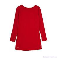 Свободное платье для девочки, casual код: 7050, красного цвета, размеры: 122, 128, 134, фото 1