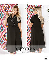 d21aca2d0e6 Шикарное удобное модное летнее платье-халат с контрастной окантовкой Размер  48-50