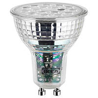 IKEA LEDARE Светодиодная лампа GU10 600 люмен, теплый регулируемая яркость  (703.632.38)