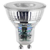 IKEA LEDARE Светодиодная лампа GU10 400 люмен, теплый регулируемая яркость  (803.632.28)