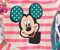 Картинки на одежду для беременных Микки в горошек [Свой размер и материалы в ассортименте]