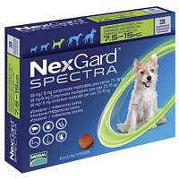 Засіби для собак від бліх, кліщів і гельмінтів NexGard Spectra собак вагою >7,5-15 кг, ціна за 1 табл