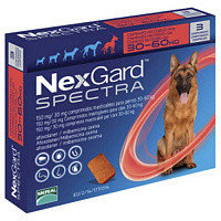 Засоби догляду для собак від бліх, кліщів і гельмінтів NexGard Spectra 150мг/30мг для собак вагою>30-60 кг