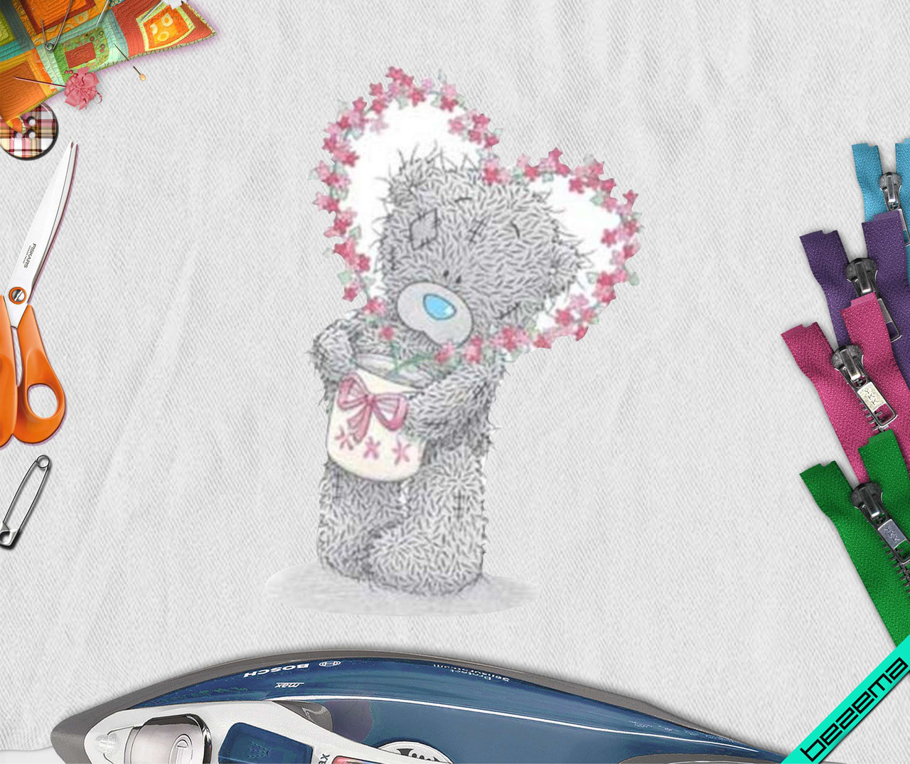 Рисунки на кофты Teddy Bear [Свой размер и материалы в ассортименте]