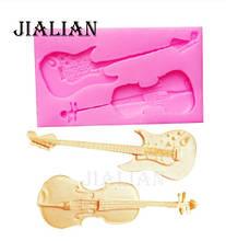 "Молд кондитерский ""Скрипка и гитара"" - размер молда 8*4,6см"