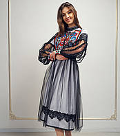Дизайнерське вишите плаття - Богема