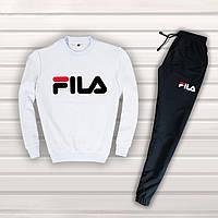 Мужской спортивный костюм, чоловічий спортивний костюм Fila S1131, Реплика