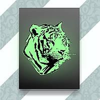 Термопечать на скатерти Тигр [Свой размер и материалы в ассортименте]