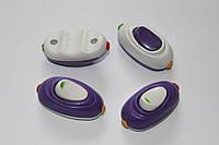 Выключатель для бра белый+фиолетовый