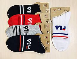 Носки спортивные демисезонные хлопок средние FILA Турция - оригинал размер 41-45 ассорти