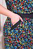Длинное женское платье в красные цветочки 48-54, фото 3