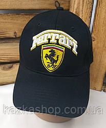 Мужская котоновая кепка Ferrari сезон весна-лето большая вышивка с регулятором