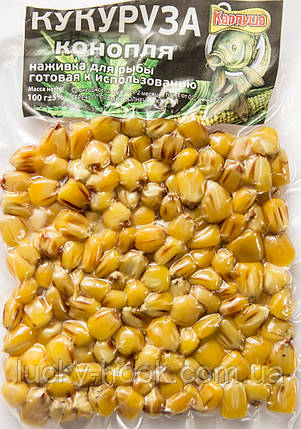 Кукуруза в вакумной упаковке ТМ Карпуша (чеснок) 100g, фото 2