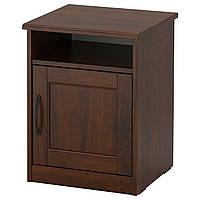 IKEA SONGESAND Прикроватная тумбочка, коричневый  (703.674.44), фото 1