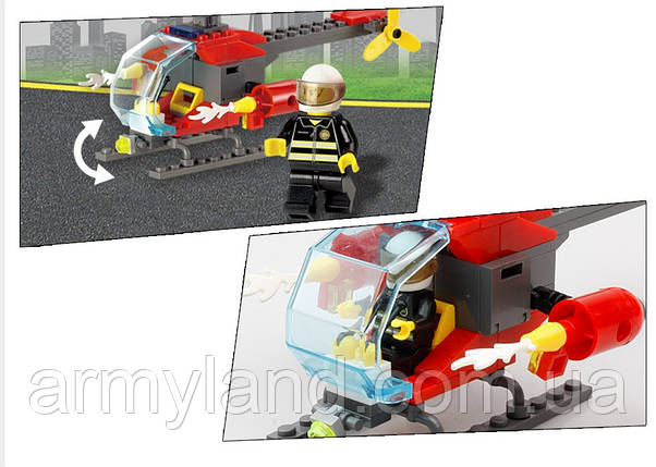 Конструктор, CITY FIRE HELICOPTER  , BrickArms, фото 2