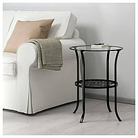 Стол IKEA KLINGSBO, черный, прозрачное стекло  (201.285.64)