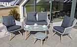 Стильний набір меблів в скандинавському стилі з штучного ротангу, фото 3