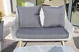 Стильний набір меблів в скандинавському стилі з штучного ротангу, фото 4