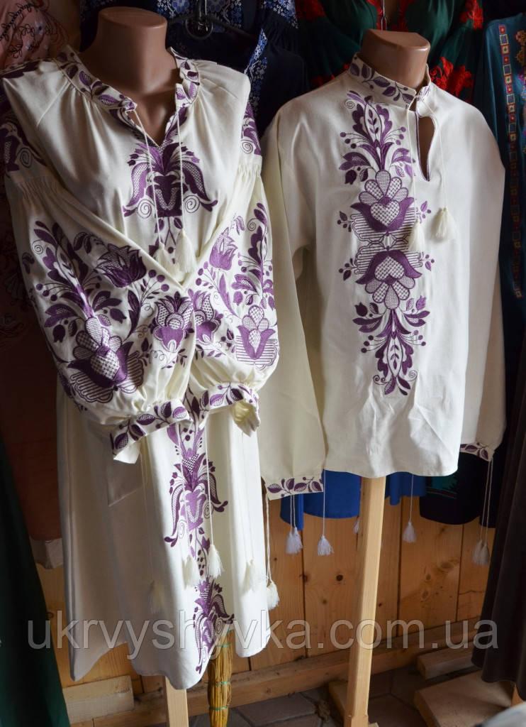"""Комплект жіноче плаття та сорочка з вишивкою на спині """"Артвізія"""""""
