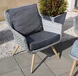 Стильний набір меблів в скандинавському стилі з штучного ротангу, фото 7