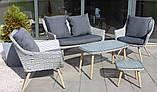 Стильний набір меблів в скандинавському стилі з штучного ротангу, фото 8