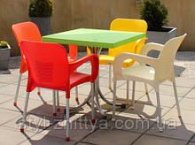Садові меблі 4 + 1 пластикові, кольори