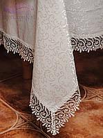 Скатерть с кружевом 160х300. Цвет белый