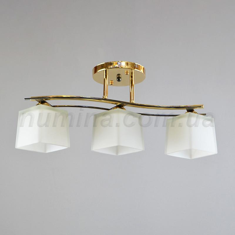 Люстра стельова на три лампи 14-4502/3B FG
