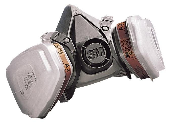 Респиратор полумаска 3M 6200 с фильтрами 3М 6051А1-органические пары в сборе