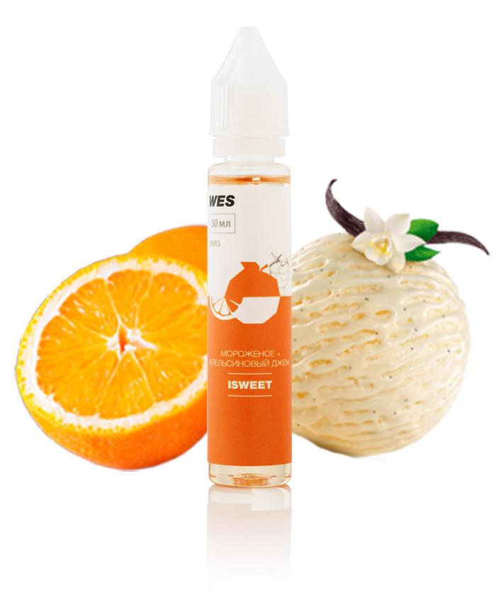 """Жидкость (заправка) для электронных сигарет/вейпа WES The First """"Isweet"""" 30 мл (Мороженное с апельсиновым джемом)"""