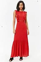 Платье-Сарафан летний  Красный длинный Forever21, фото 1