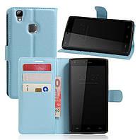 Чехол-книжка Litchie Wallet для Doogee X5 Max / X5 Max Pro Голубой