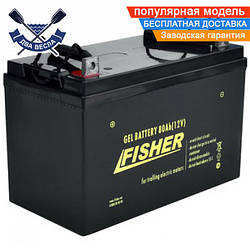 Аккумулятор гелевый Fisher Gel 80A*h 12V для лодочного мотора