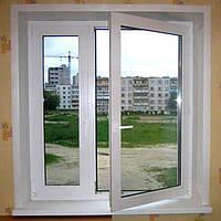 Все размеры Окно поворотно откидное металлопластиковое 6 камерное + Улучшеные характеристики энерго