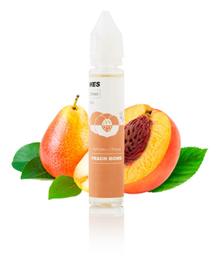 """WES The First """"Peach Bomb"""" 30 мл (Персик и груша) Премиум жидкость для электронных сигарет"""