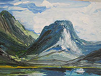 Картина пейзаж гуашью
