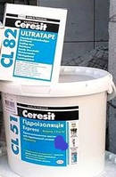 Комплект гідроізоляційна мастика Ceresit CL 51/14kg+лента Ceresit CL82 10 м пог (разом дешевше)