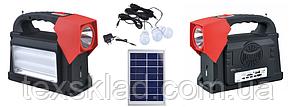 Автономний універсальний ліхтар - світильник Yajia YJ-1903T(SY)K 2W+24SMD (Радіо/USB плеєр/Power Bank)