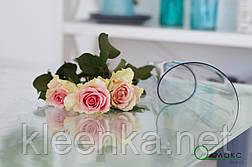 Мягкое стекло, прозрачное плотное покрытие на стол, м'яке скло  для захисту стола ширина 0,8 м, фото 2