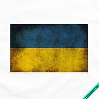 Термонаклейки на пальто Флаг Украины [Свой размер и материалы в ассортименте]