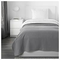 IKEA INDIRA Покривало, сірий (003.890.72)