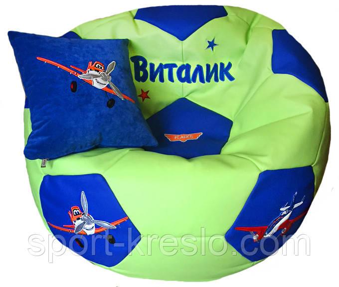 Пуфик детский кресло мяч Литачки с именем