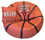 Пуфик детский кресло мяч Литачки с именем, фото 3