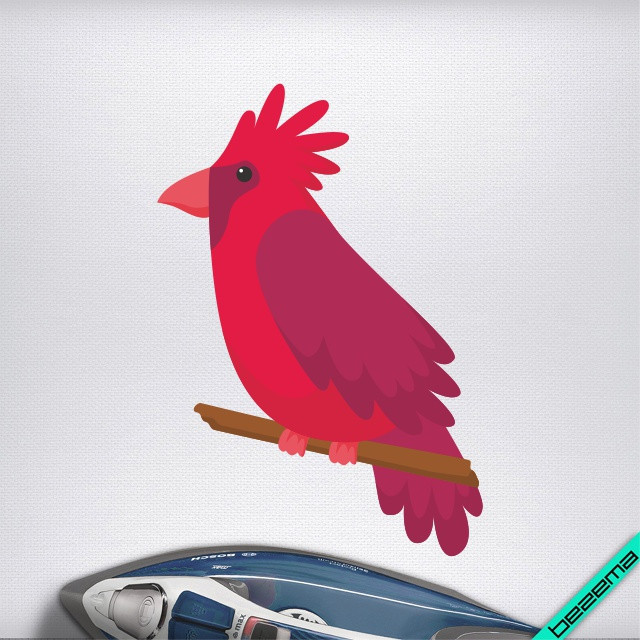 Дизайн на одежду Красный кардинал [Свой размер и материалы в ассортименте]