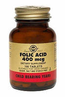 Фолиевая кислота (Folic Acid) Солгар №100