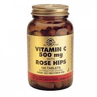 Витамин C и шиповник (Vitamin C Rose Hips) Солгар №100